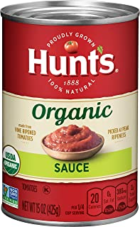 Hunt's Organic Tomato Sauce, Keto Friendly, 15 oz, 12 Pack