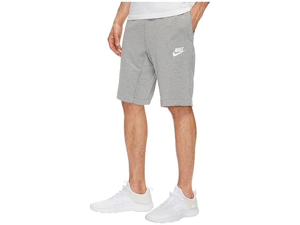 Nike Sportswear Advance 15 Short (Dark Grey Heather/Black/White) Men