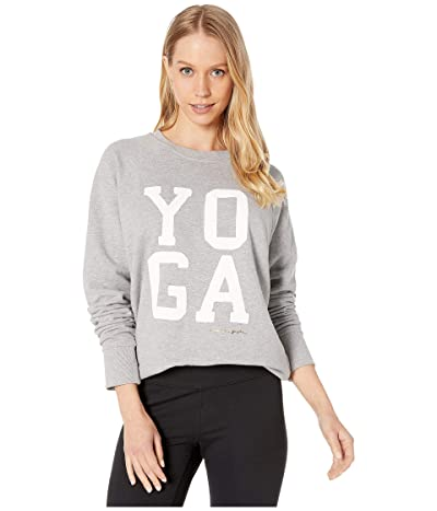 Spiritual Gangster Classic Crew Sweatshirt (Medium Heather Grey) Women