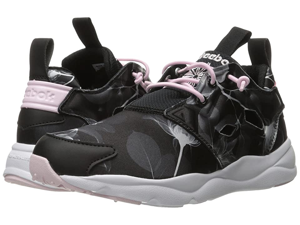 Reebok Furylite Slip-On Jersey (Floral/Black/White/Porcelain Pink) Women