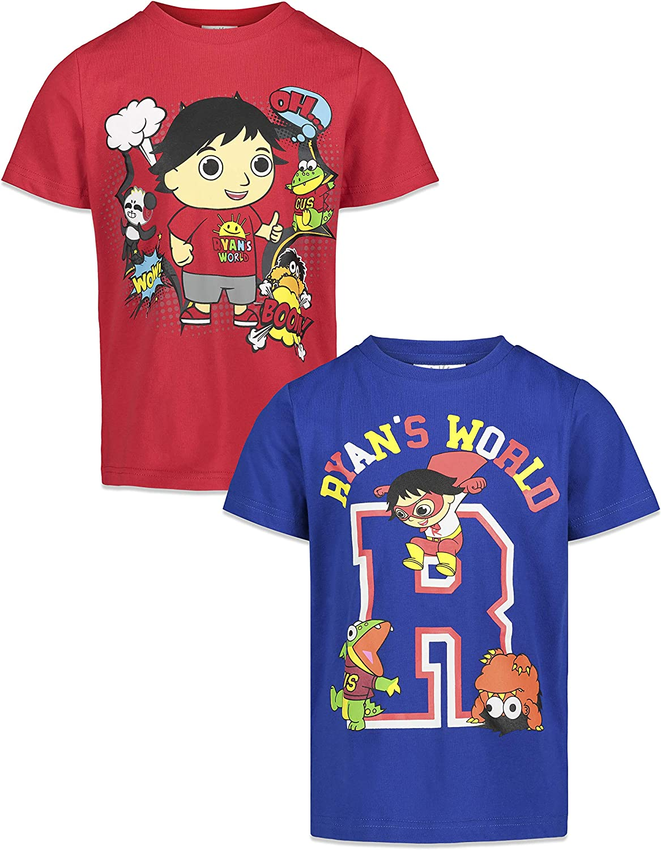 RYAN'S WORLD Boys Short-Sleeve 2 Pack T-Shirts