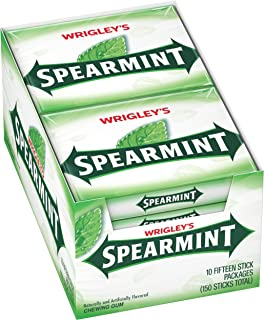 Wrigley's Spearmint Gum, 15-Stick Pack (10 packs)