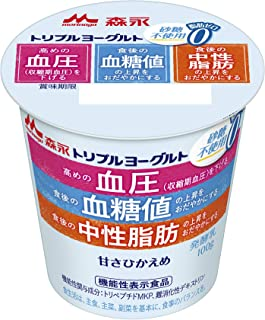 [冷蔵] 森永乳業 トリプルヨーグルト砂糖不使用 100g