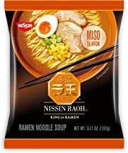 Nissin RAOH, Miso Flavor, Authentic Japanese-Style Ramen, 3.77 Ounce (Pack of 6)