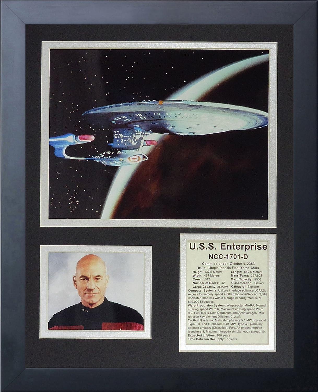 Legends Never Die Star Trek  Next Generation Ship  Framed Photo Collage, 11 x 14Inch