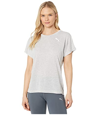 PUMA Active Mesh Heather Tee (Light Gray Heather) Women