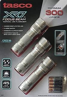 Tasco XR7 Focus Beam Tactical LED Flashlight, 3-Pack