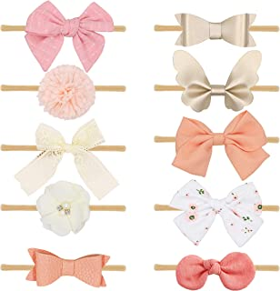 Baby Girls headbands with Hair Bows Flowers,Girls Hiar Accessories for Newborn Infant Toddler Gifts