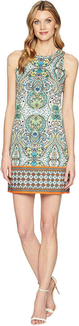 Mood Paisley Border Sleeveless Shift