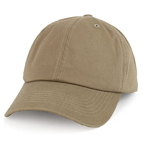 21ba0127963 Trendy Apparel Shop Oversize XXL Plain Unstructured Soft Crown Cotton Dad  Hat