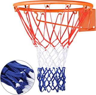 Heavy Duty Basketball Net Replacement All Weather Basketball Net Fits Standard Indoor or Outdoor,  12 Loop