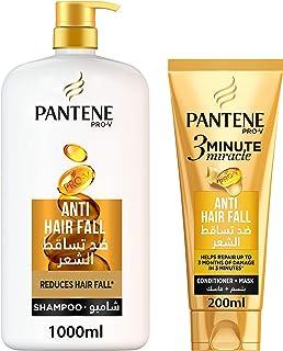 Pantene Pro-V Anti-Hair Fall Shampoo 1L + 3 Minute Miracle Conditioner 200 ml