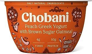 Chobani Peach Greek Yogurt with Brown Sugar Oatmeal 5.3oz
