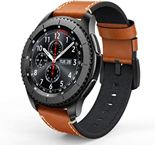 SWEES Leather Bands Compatible Gear S3 Frontier & Classic and Galaxy Watch 46mm, Genuine Leather 22mm Strap Replacement Wr...