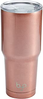 BYO 5212991 Double Wall Stainless Steel Vacuum Insulated Tumbler, 30-Ounce, Metallic Rose Gold