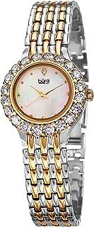 Burgi Women's Quartz Watch, Analog Display and Brass Strap Bur107Ttg