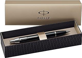 Parker IM Chrome Trim Retractable Ballpoint Pen with Medium Nib, Gift Boxed - Black Chrome Trim