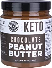 Keto Chocolate Peanut Butter Spread (1g net carbs) with MCT Oil and real Cocoa (Dark Chocolate). Vegan, Low Carb, No Added...