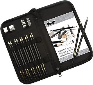 مداد طراحی و نقاشی در کیف حمل زیپ