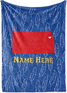 State Pride Series Kansas - Personalized Custom Fleece Throw Blankets with Your Family Name - Lawrence Edition