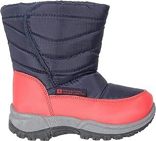 Mountain Warehouse Botas de Nieve para niños Caribou Junior - a Prueba de Nieve, Forro Polar, cálido, con Aislamiento, Suela de Alta tracción -para Clima frío de Invierno