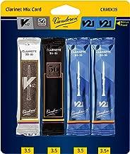 Vandoren CRMIX35 Bb Clarinet Reed Mix Card, Includes 1 Each of V12, 56 Rue Lepic, V21 & Bonus V21