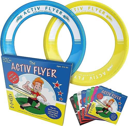 Activ Life Frisbee Ultimate [Pack de 2] Vole Droit sans Vous Blesser – Frisbee Enfants 80% Plus Légers - Remplacez Le...