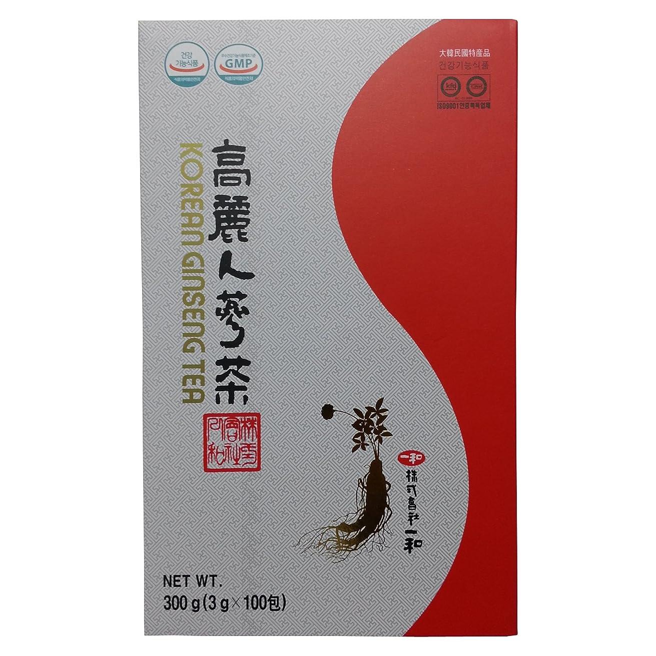 歴史アルミニウム豆腐高麗人参 一和高麗人参茶 6年根 3g×100包 [並行輸入品]