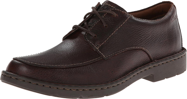 Clarks Stratton Zeit Oxford, braun Leather, 9.5 2E US   8.5 UK   42.5 EU