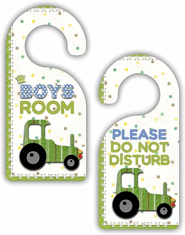Boys Room Please Do Not Disturb Truck Bedroom Door Sign Hanger Double Sided Hard Plastic Glossy Finish