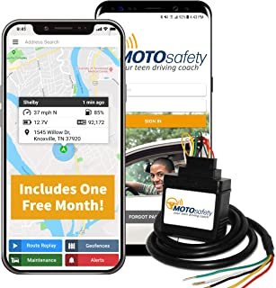 MotoSafety MWAAS1P1 Wired 3G GPS Car Tracker with One Month of Service, Vehicle Tracker and Tracking Device