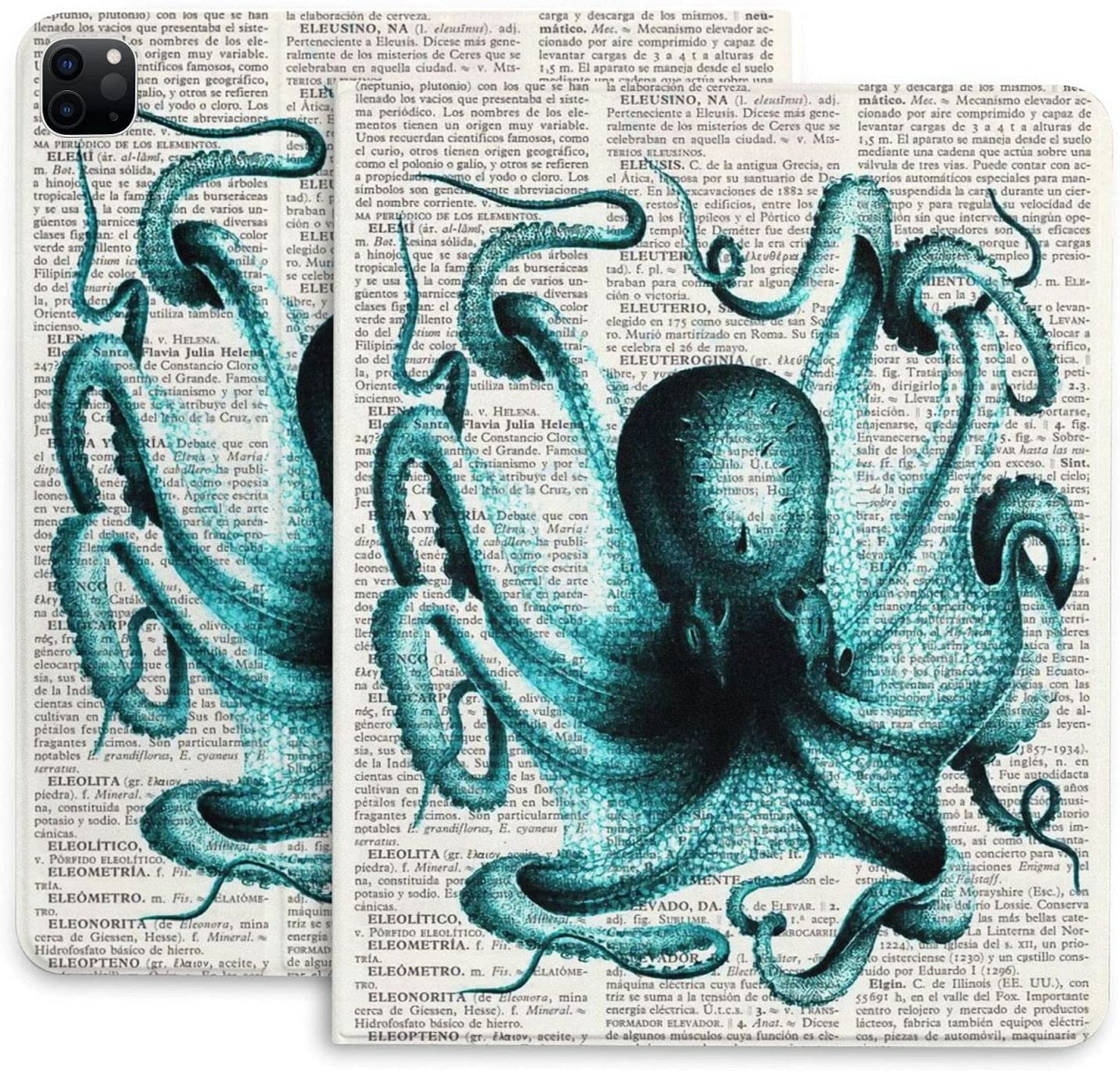 Ranking TOP1 Octopus Newspaper Case for Ipad Pro in 2020 12.9 Gen 4th Ta NEW before selling ☆