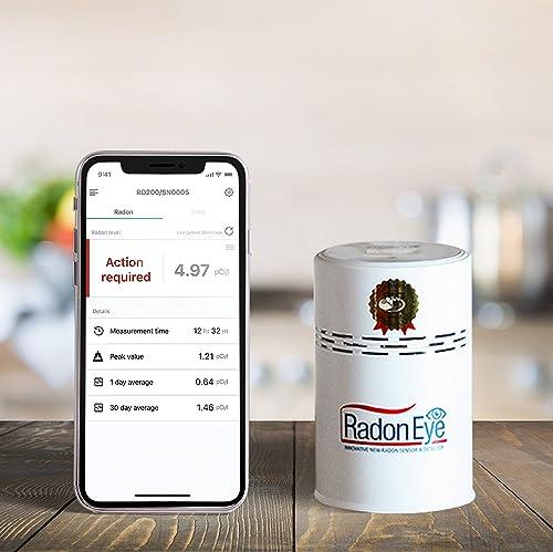 Radon Eye RD200 Ecosense, Fastest & Most Reliable Detector, OLED Display – Easy Setup & Free App, Bluetooth, Real-Tim...