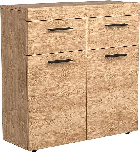 new arrival Giantex Storage Cabinet Wood Drawer Chest, Home Storage Organizer with 2 Drawers, online sale 2-Door Cabinets, Adjustable Shelves, Multipurpose discount Floor Credenza for Entryway, Living Room, Bedroom (Oak) outlet online sale