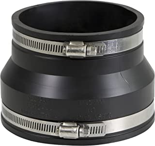 EVERCONNECT 4867 Flexible Rubber Coupling with Stainless Steel Clamps, 4