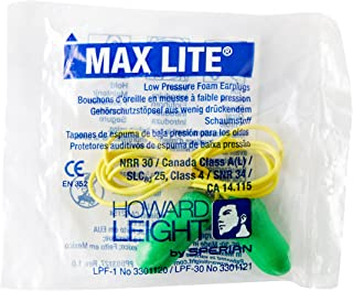 MAX-LITE LOW PRESSURE FOAM EAR PLUG W/POLY