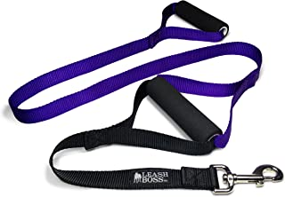 Leashboss Original - Heavy Duty Dog Leash for Large Dogs - No Pull Double Handle Training Lead for Walking Big Dogs