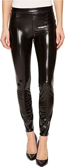 Blank NYC - Shiny Vegan Leather High-Rise Pull-On Leggings in Smoke and Mirrors
