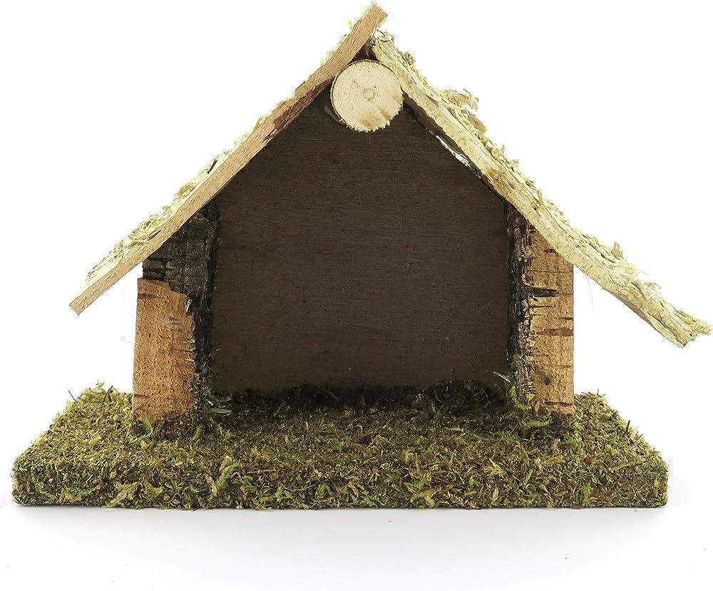 Ferrari & arrighetti ,capanna capanna in legno e sughero,paesaggio del presepe Bertoni_10042