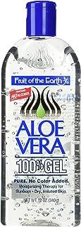 Fruit Of The Earth 100 % Aloe Vera Gel, 12 oz (Pack of 2)
