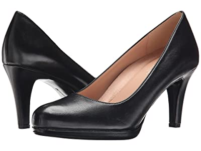 Naturalizer Michelle (Black Leather) High Heels