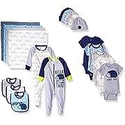 GERBER Baby Boys' 19-Piece Essentials Gift Set, Hedgehog, Newborn