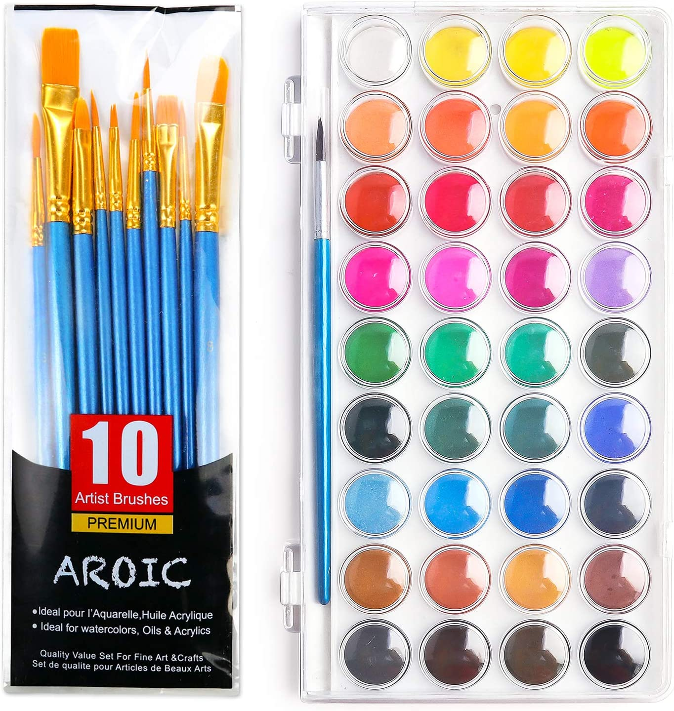 AROIC All items free shipping Store Watercolor Paint Set Colorï36 with a