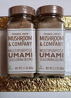 Trader Joe's Mushroom & Company Multipurpose UMAMI Seasoning Blend NET WT. 2.1 OZ (Pack of 2)