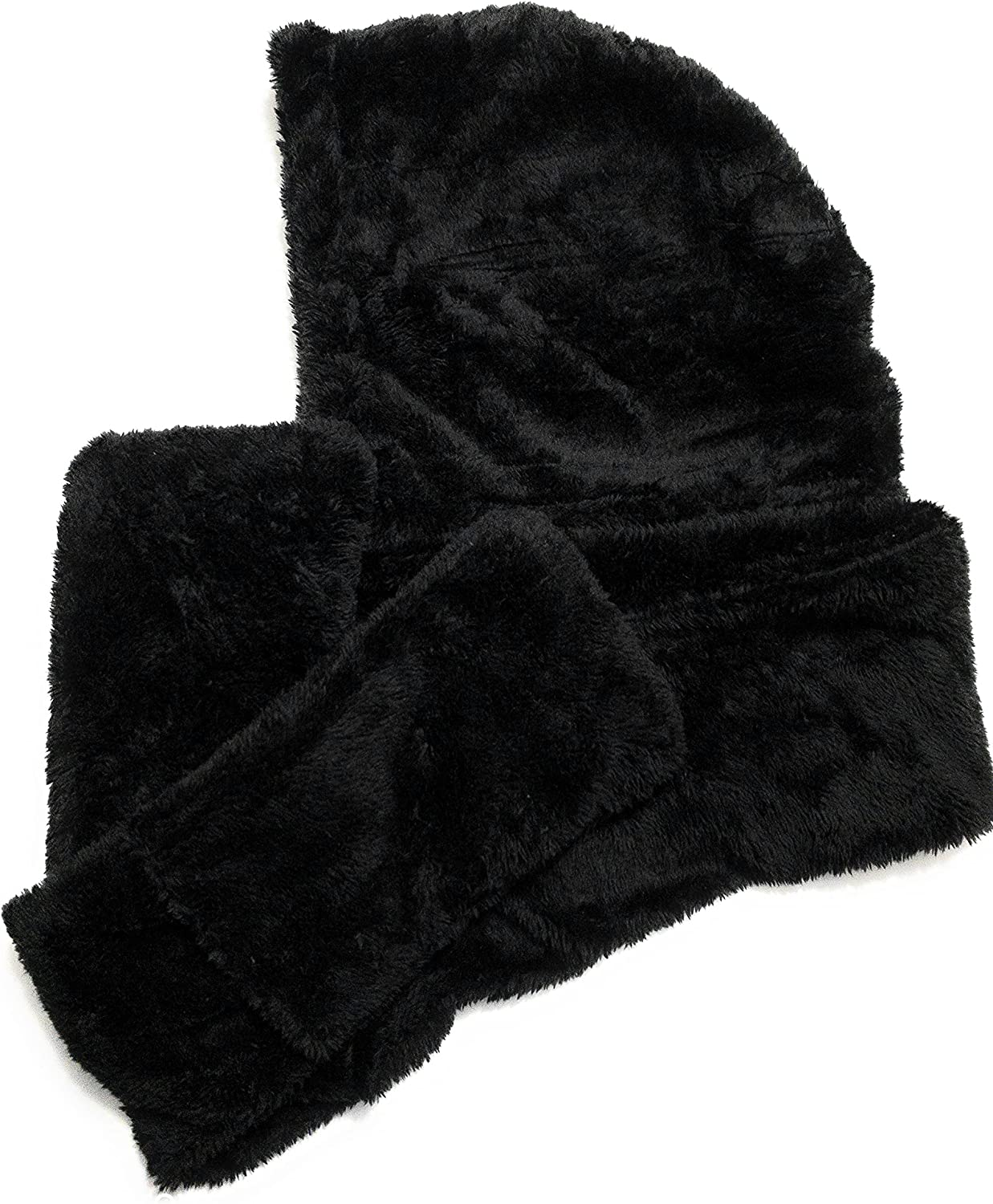 Gadgeteir Winter warm soft thick shawls, durable and attractive fashionable twist scarf with gloves like pockets sets to warm your hands or a place to put your phone or keys, also comes with color - Black, Medium