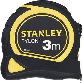 M/ètre /à ruban professionnel solide avec agrafe de ceinture stable et syst/ème denroulement automatique Presch M/ètre ruban 5 m