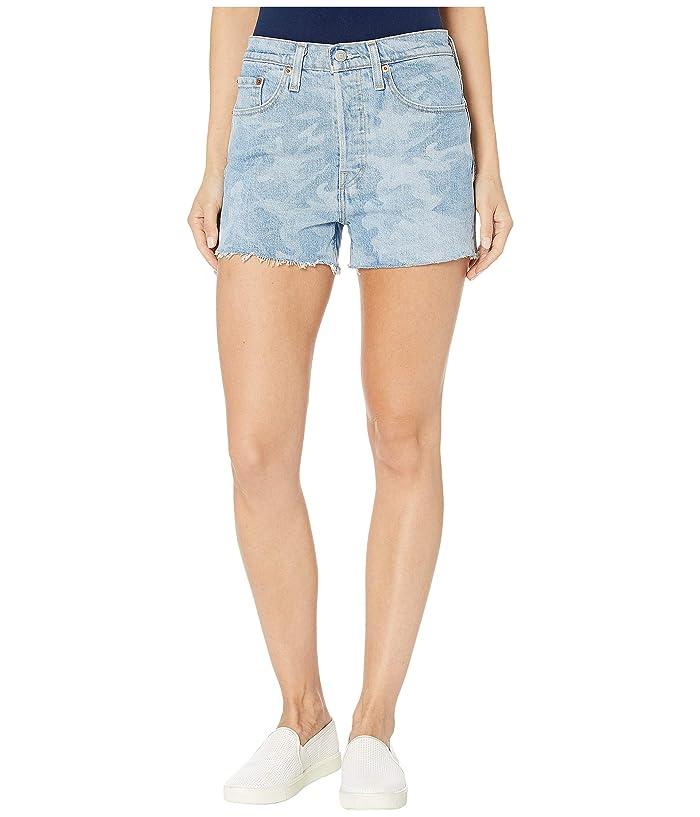 Vintage High Waisted Shorts, Sailor Shorts, Retro Shorts Levisr Womens 501r High-Rise Shorts Tango Camo Womens Shorts $34.99 AT vintagedancer.com