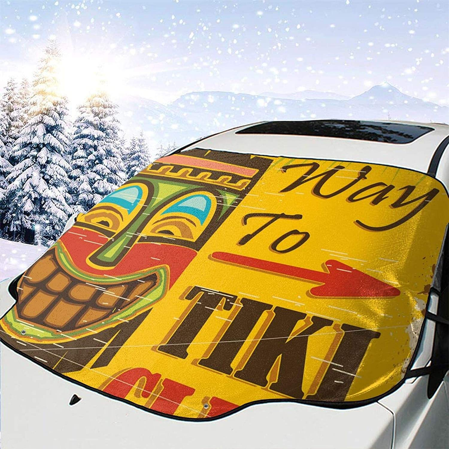 Car Front Window Rapid rise Windshield Snow Cover Way Tiki Max 85% OFF Vintage to Club