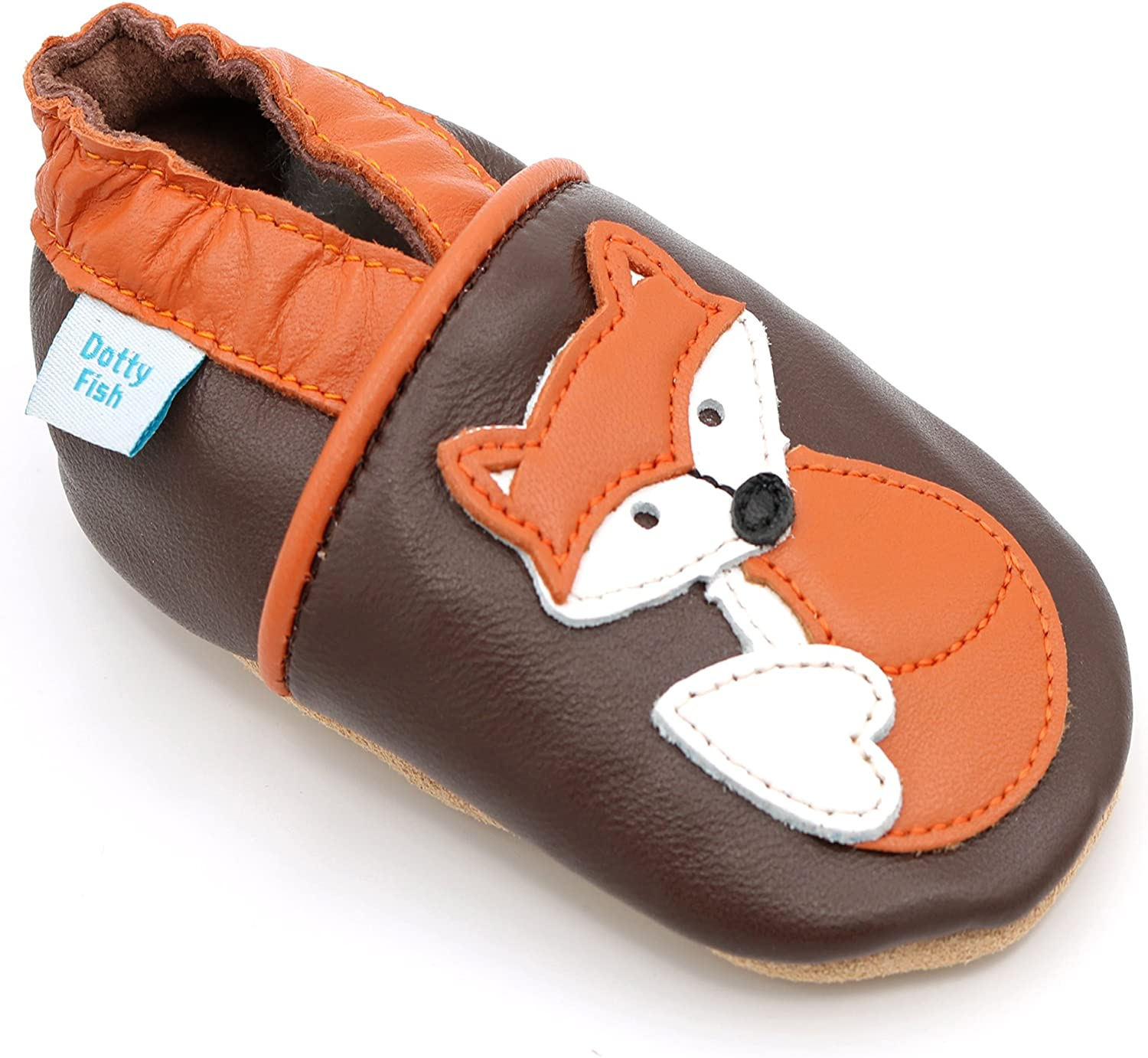 Dotty Fish Baby Shoes Cheap bargain Unisex Sole Cheap sale Soft Leather Crib