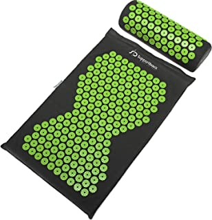 Supportiback Wellness Therapy Acupressure Mat Set - Prick Free Acupuncture Mat and Acupuncture Pillow for Relaxation and P...